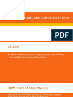 Values, Attitude, And Job Satisfaction