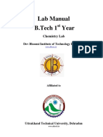 Lab mauanl for chemistry btech 1 year