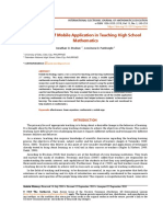 The Effects of Mobile Application in Teaching High School Mathematics 3906