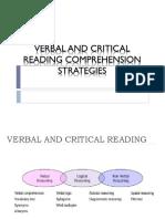 Verbal Reasoning and Critical Reading