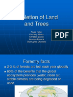 Presentation on Depletion of Land and Trees
