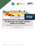 Entrenamiento de La Capacidaad de Repetir Sprints (RSA) en El Fútbol