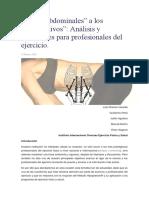"""De Los """"Abdominales"""" a Los """"Hipopresivos""""... Análisis y Reflexiones Para Profesionales Del Ejercicio."""