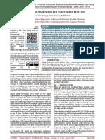 Performance Analysis of FIR Filter using FDATool