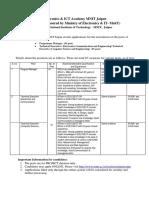 EICT Recruitment 02 Posts
