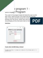 Example Program 1 Vb