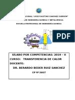 Silabo Trans de Calor 2019-II