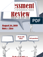 Assessment August 24 2019