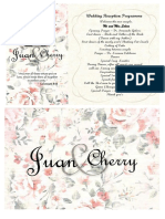Wedding Reception Program