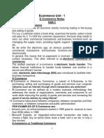 Ecommerce Notes Unit-1