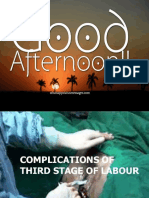 Complication of 3rd Stage of Labour