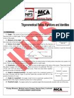 INPS Trigonometric Ratio Study Material