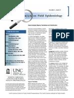 Focus on field epidemiology