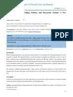 Hypoparathyroidism Vitiligo Poliosis and Macrocytic Anemia a New Syndrome Joccr 3 1060