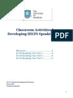 Class Activities IELTS Speaking