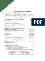 Proyeccion de Estados Financieros Ejercicio