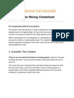 Guitar Mixing Cheatsheet