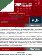 RECURSOS HIDRAULICOS - MEDIO AMBIENTE, RRNN Y RR HIDRAULICOS.ppt
