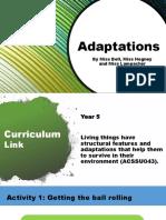 adaptations- engage