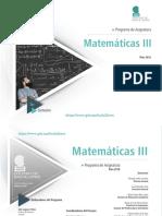 Programa matematicas 3