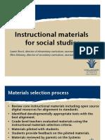 PP Instructional Materials for Social Studies
