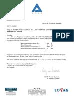 Arc Fault Test Confirmation Letter SGCVL 10.2.15