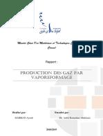 Production Des Gaz Par Vaporeformage