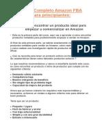 curso para vener en Amazon FBA
