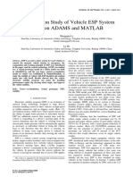 Co-simulation Study of Vehicle ESP System Based on ADAMS and MATLAB