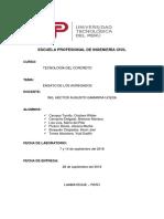 Informe de Laboratorio-Tecnologia Del Concreto