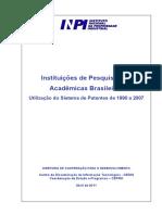 Estudo Completo Inst Pesq Nao Acad 1990 a 2007 Final 1