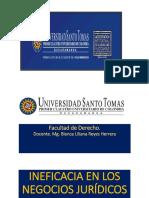 Ineficacia Negocio Jurídico Colombiano 25 Agos 2019