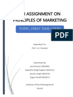 Assignment on Principles of Marketing_First Time Users