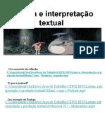 Leitura e Interpretação Textual