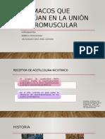 Unión Neuromuscular y farmacología