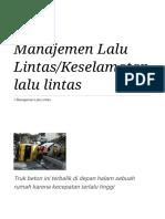 Manajemen Lalu Lintas_Keselamatan Lalu Lintas - Wikibuku Bahasa Indonesia