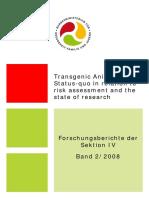 Transgenic Animals Status-quo