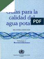 Guía Para La Calidad Del Agua Potable Vol. 1