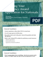 Preparing Your Proficiency Application