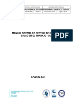 Manual Sistema de Gestión de Seguridad y Salud en El Trabajo ( EJEMPLO )