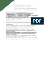 Documentos Para Importar y Exportar