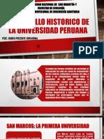 Desarrollo Historico de La Universidad Peruana