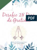 eBook Desafio Dos 28 Dias de Gratidao Por Vera Cristina Oficial