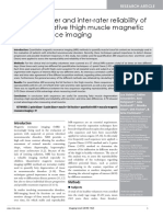 Intrarater and Interrater Reliability of Quantitative Thigh Muscle Magnetic Resonance Imaging