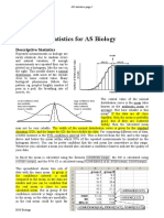 Statistical Devices for assignments
