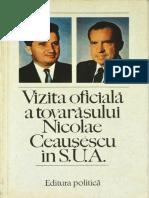 1974 - N. Ceausescu - Vizita SUA