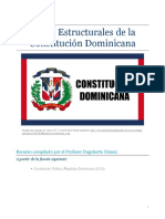 Partes Estructurales de La Constitución Dominicana