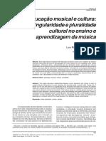 Educação Musical e Cultura