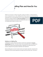 What is a Staffing Plan and How Do You Create One