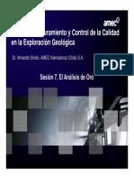 Control de calidad en la exploración geología